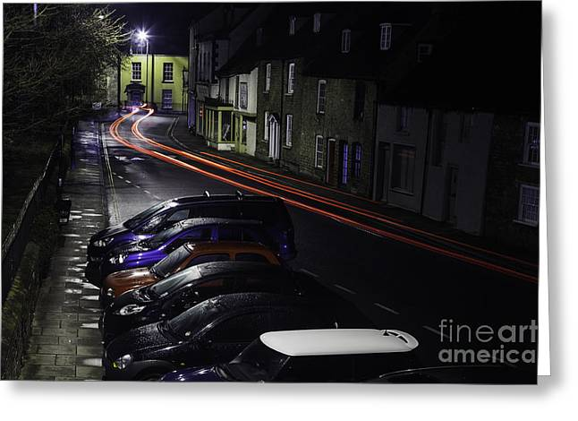 A Vrooom With A View In Malmesbury Greeting Card by Nigel Jones