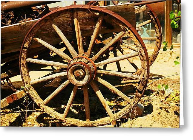 A Wagon Wheel Greeting Card by Jeff Swan