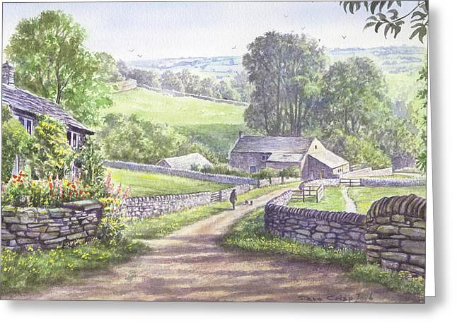 Crisp Greeting Cards - A Walk in the Dales Greeting Card by Steve Crisp