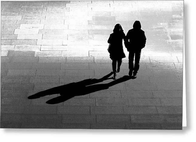 Colin Hogan Greeting Cards - A Walk In The Dark - ref 3765 Greeting Card by Colin Hogan