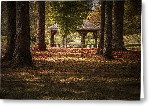 Cindy Rubin Greeting Cards - A Walk In The Park Greeting Card by Cindy Rubin