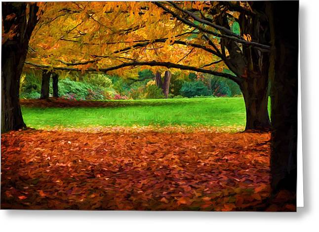 Jordan Trail Greeting Cards - A Walk in the Park Greeting Card by Jordan Blackstone