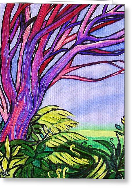 Van Gogh Style Greeting Cards - A Walk in The Park Greeting Card by Rivkah Singh