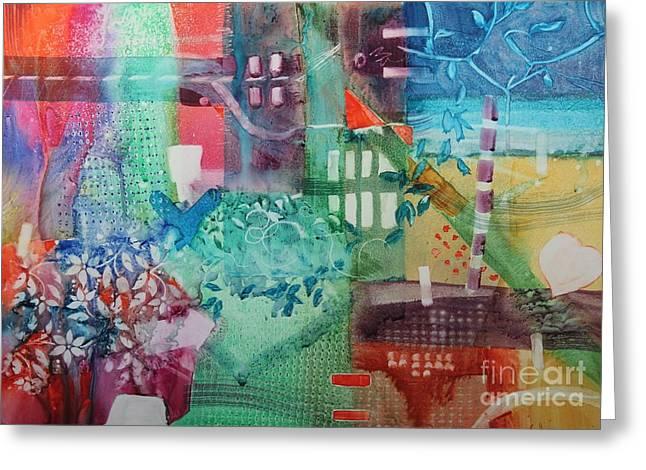 Elizabeth Carr Greeting Cards - A Spring Walk in the Park   Greeting Card by Elizabeth Carr