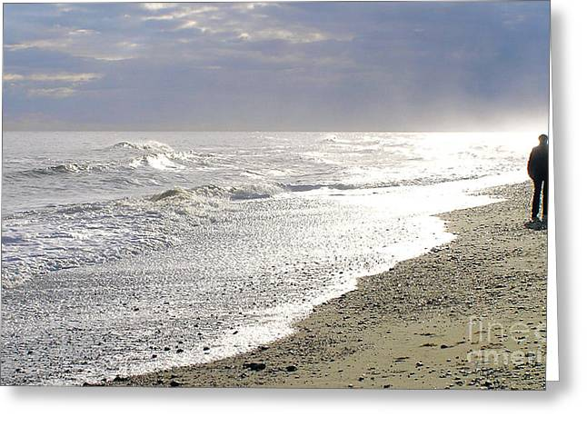 Over-exposed Greeting Cards - A Walk On The Beach Greeting Card by Darren Burroughs