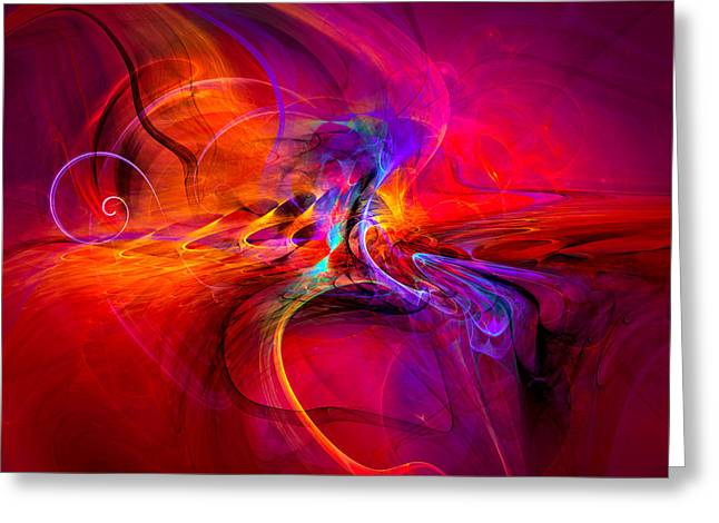 A Walk On The Wild Side - Abstract Art Greeting Card by Modern Art Prints