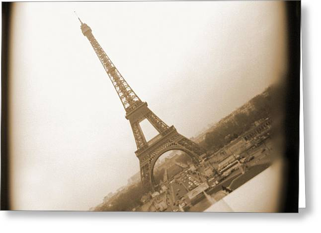 Toy Camera Digital Art Greeting Cards - A Walk Through Paris 11 Greeting Card by Mike McGlothlen