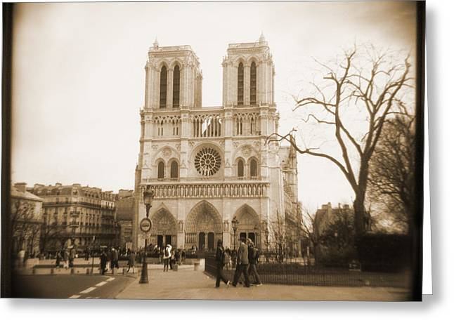 People Walking Greeting Cards - A Walk Through Paris 24 Greeting Card by Mike McGlothlen
