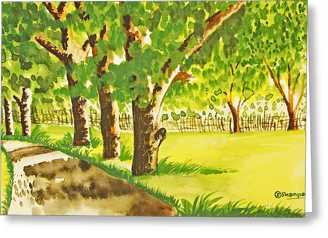 Shakhenabat Kasana Greeting Cards - A walk to remember Greeting Card by Shakhenabat Kasana