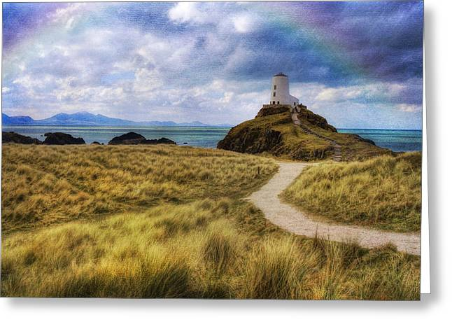 Seaside Digital Art Greeting Cards - A walk to the lighthouse Greeting Card by Ian Mitchell