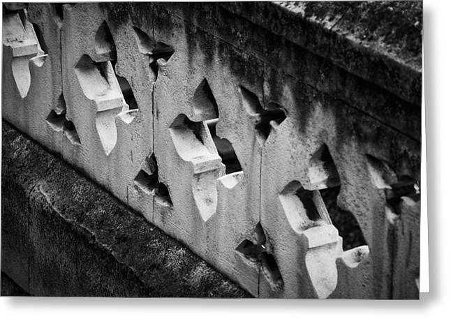 A Wall Between Gardens Greeting Card by Christi Kraft