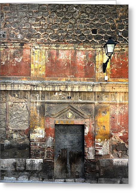 Old Door Greeting Cards - A wall in decay Greeting Card by RicardMN Photography