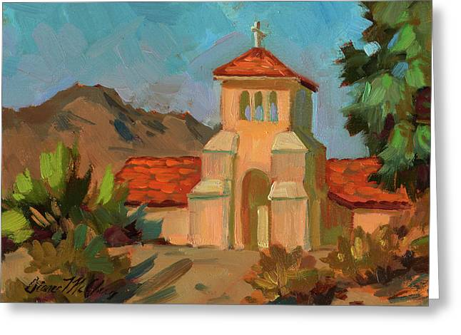 State Park Canyon Greeting Cards - A Warm Day at Borrego Springs Lutheran Greeting Card by Diane McClary
