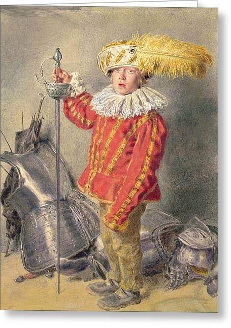 A Warrior Bold Greeting Card by William Henry Hunt