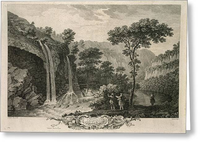 A Waterfall Greeting Card by British Library