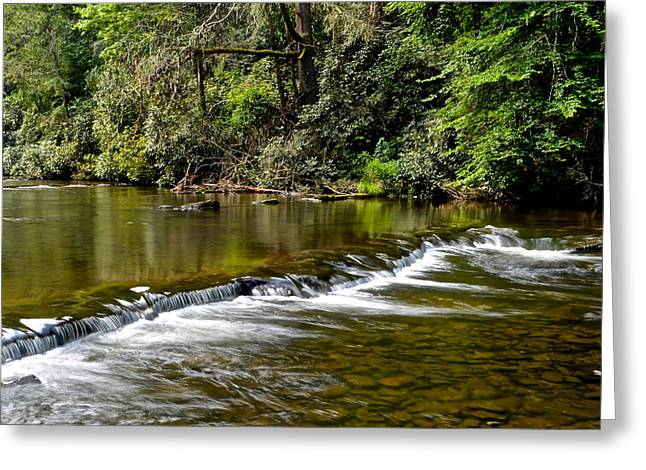Tennessee River Greeting Cards - A Waterfalls Beginning Greeting Card by Frozen in Time Fine Art Photography