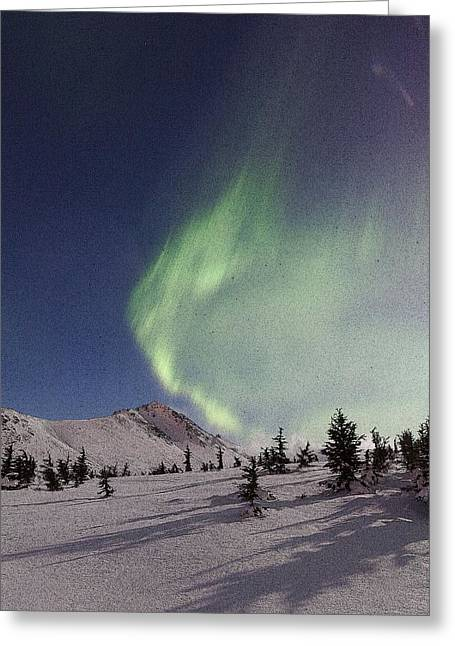 3 Exposure Greeting Cards - A Wave of Auroras- Abstract Greeting Card by Tim Grams