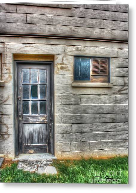 Entrance Door Greeting Cards - A Way To Escape Greeting Card by Dan Stone