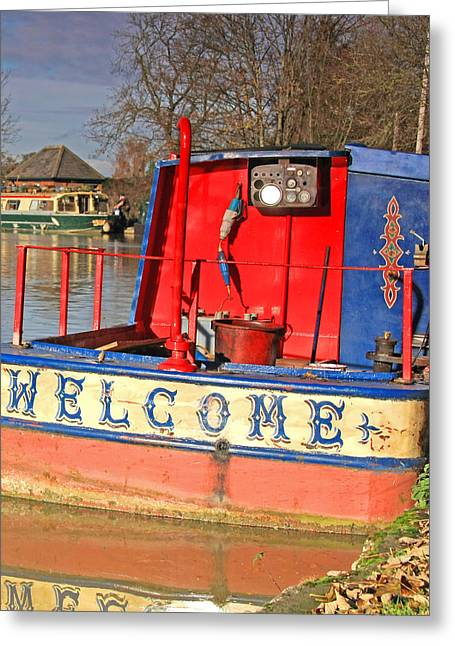 Northamptonshire Greeting Cards - A welcome sight Greeting Card by Bob Caddick