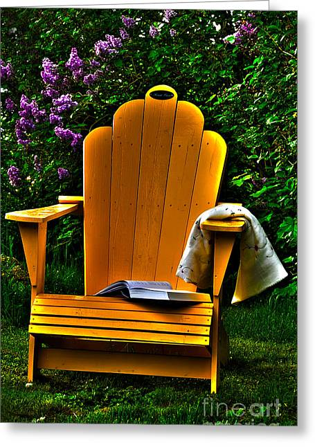 A Well Deserved Rest Greeting Card by Randi Grace Nilsberg