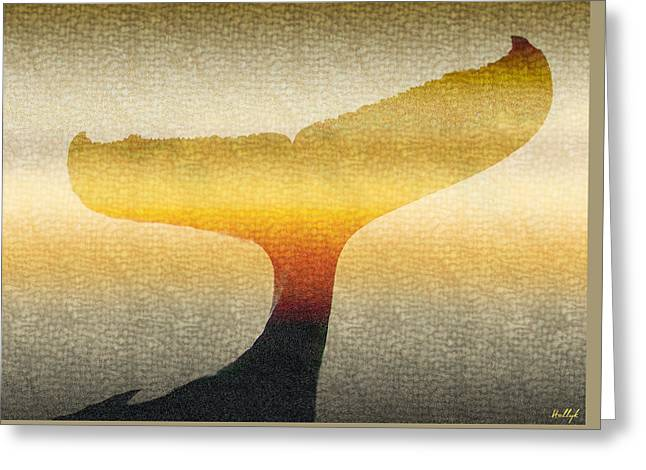 Tail Digital Greeting Cards - A Whales Tale Greeting Card by Holly Kempe