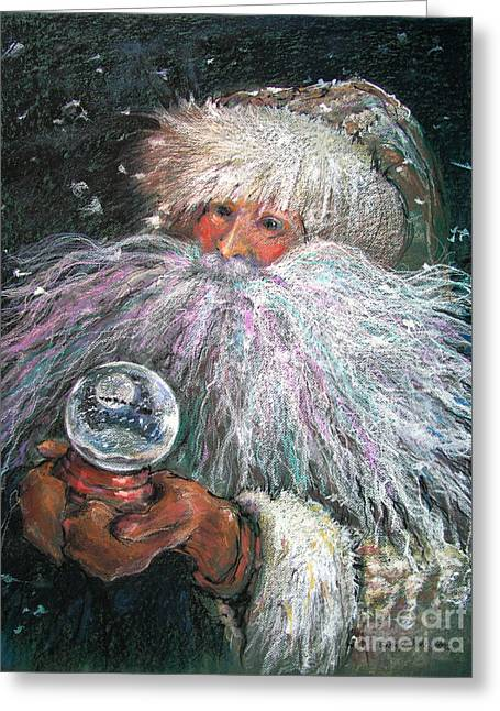 White Fur Greeting Cards - A White Christmas Remembered Greeting Card by Shelley Schoenherr