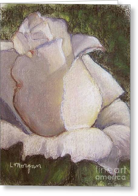 Rose Petals Pastels Greeting Cards - A Whiter Shade of Pale Greeting Card by Laurie Morgan