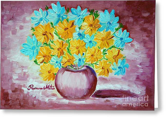 A Whole Bunch of Daisies Greeting Card by Ramona Matei
