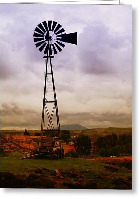 A Windmill And Wagon  Greeting Card by Jeff Swan