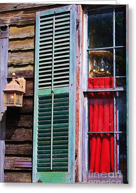 Red Wine Prints Greeting Cards - A Window In St. Augustine Greeting Card by Marcus Dagan