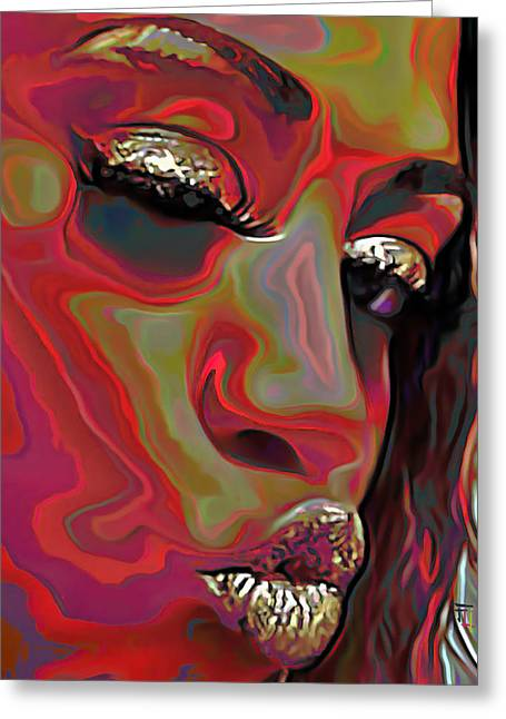 A Kiss Greeting Cards - A Wink And A Kiss Greeting Card by  Fli Art