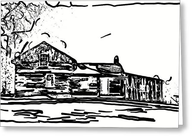 Log Cabin Art Greeting Cards - A Winter Dream 3 Greeting Card by Steve Harrington