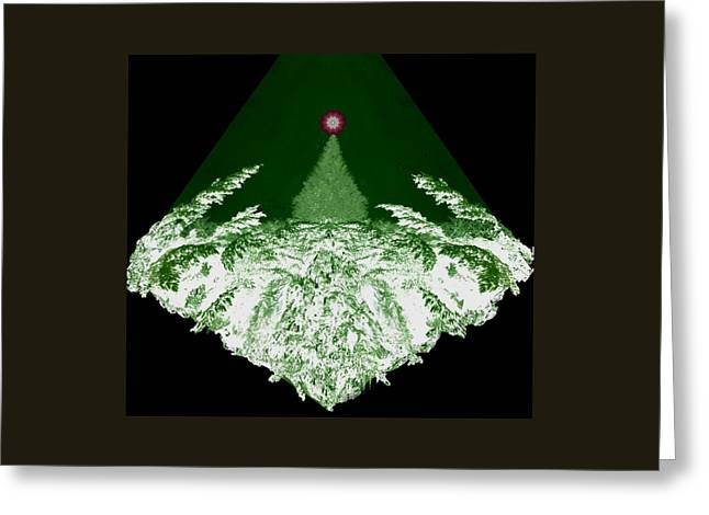 Dream Scape Greeting Cards - A Winter Dream Greeting Card by Mike Breau