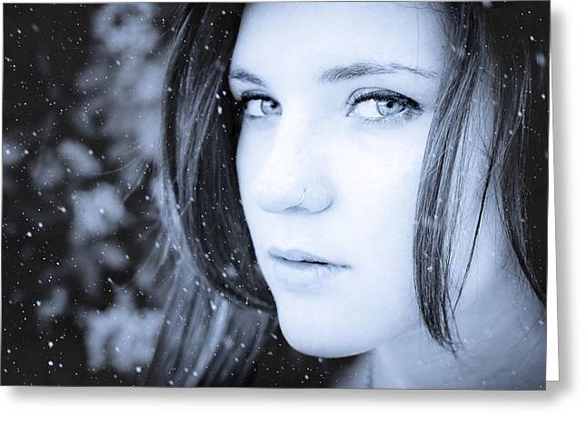Wintry Photographs Greeting Cards - A Winter Feel Greeting Card by Loriental Photography
