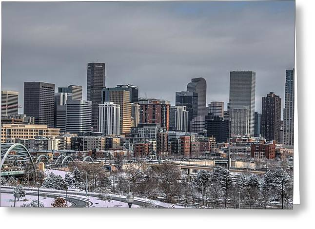 Speer Greeting Cards - A Winter in Denver Greeting Card by Ryan Harter
