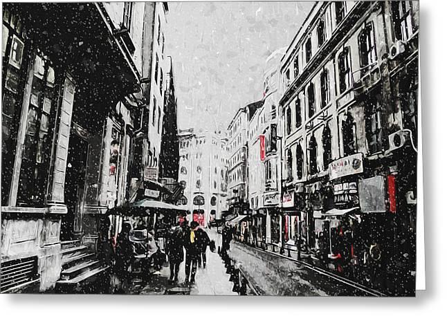 A Winter Scene Greeting Card by Taylan Soyturk