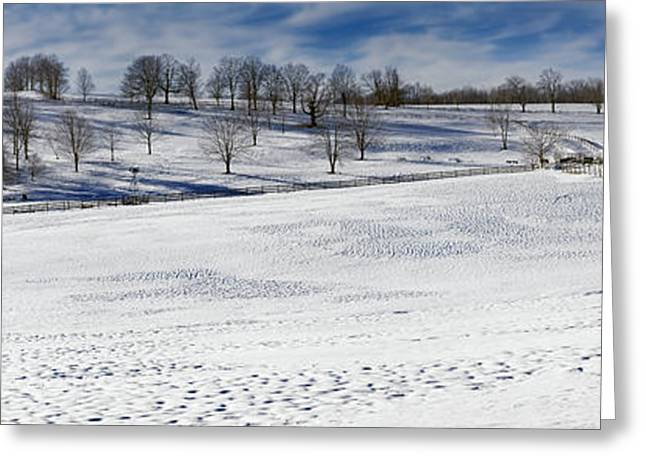 New England Snow Scene Greeting Cards - A Winters Day Greeting Card by Bill  Wakeley