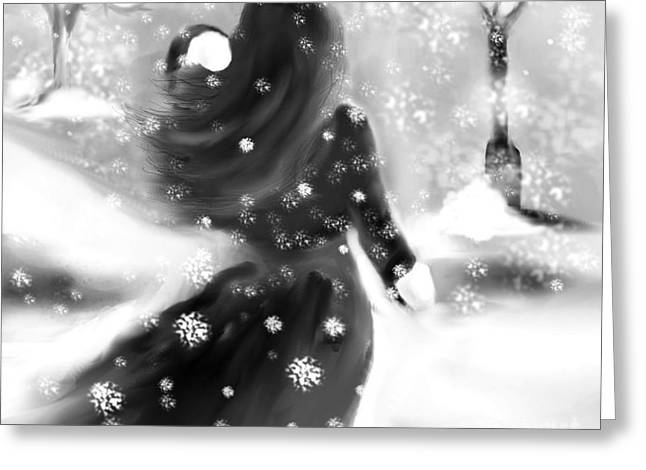 A Winters Walk Greeting Card by Lori  Lovetere