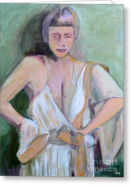 A Woman In Love Greeting Card by Diane montana Jansson