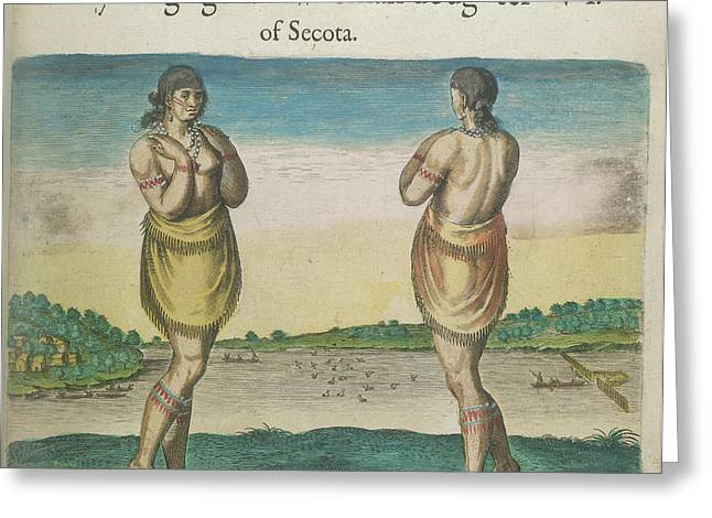 A Woman Of Secoton Greeting Card by British Library