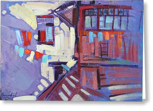 Barn Door Paintings Greeting Cards - A wonderful day Greeting Card by Anastasija Kraineva