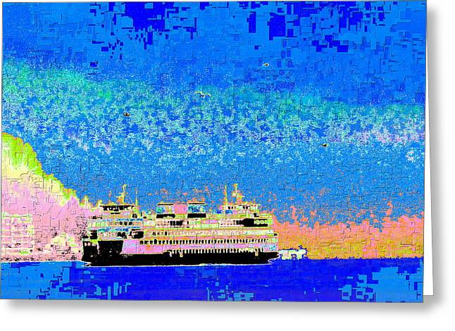 Alki Beach Greeting Cards - A Wonderful Day On The Sound Greeting Card by Tim Allen
