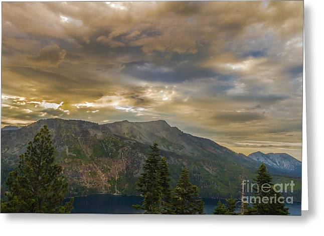 Angora Lakes Greeting Cards - A Work In Progress Greeting Card by Mitch Shindelbower