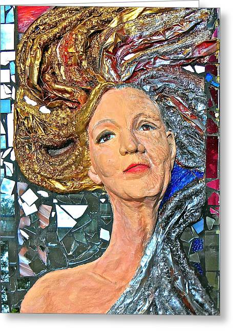 Face Reliefs Greeting Cards - A Work in Progress Greeting Card by Phyllis Dunn