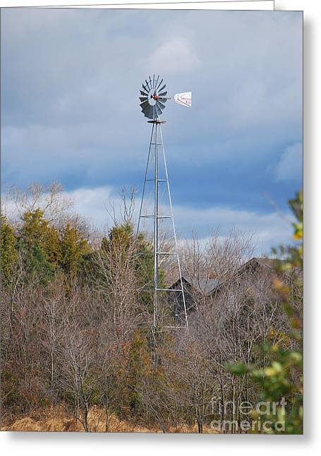 Old Mill Scenes Digital Greeting Cards - An Old Fashioned Working Wind Mill Greeting Card by Bob Sample