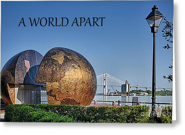 Victory Speech Greeting Cards - A World Apart Greeting Card by Priscilla Burgers