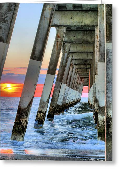 Atlantic Beaches Greeting Cards - A Wrightsville Beach Morning Greeting Card by JC Findley