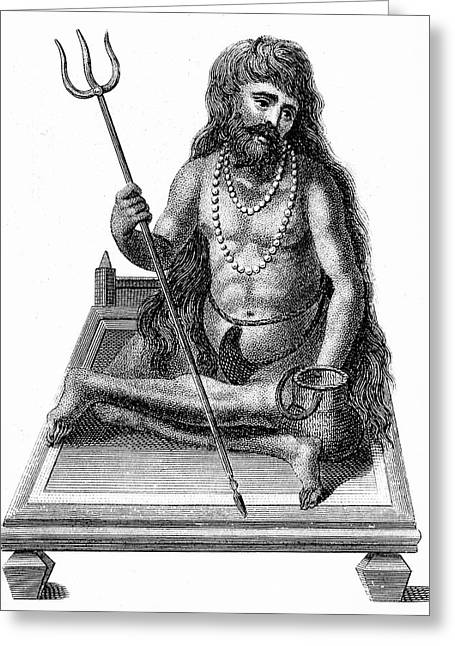 A Yogi Meditating Greeting Card by Universal History Archive/uig