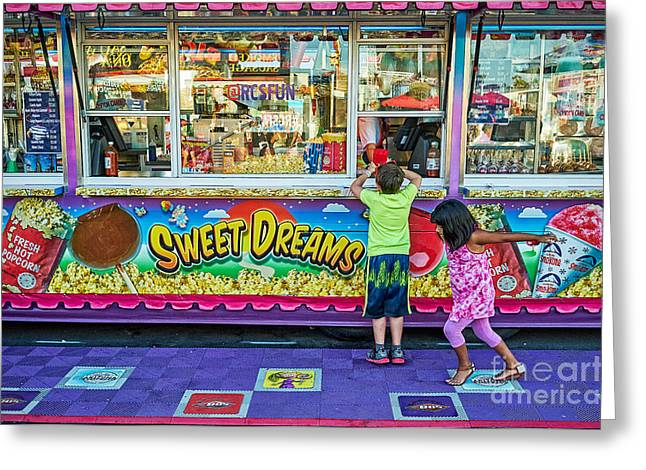 Arizona State Fair Greeting Cards - A Youngsters Sweet Dreams Fulfilled Greeting Card by Matt Suess