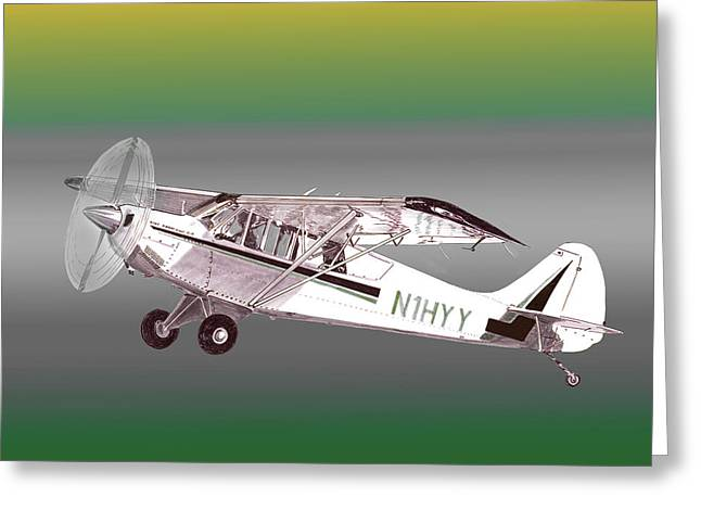 Flat Four Greeting Cards - A1A Husky Aviat Airplane Greeting Card by Jack Pumphrey